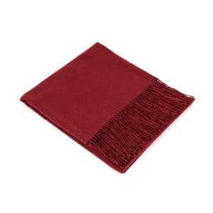 Tmavě červená kašmírová šála Bel cashmere Hannah, 190x140cm