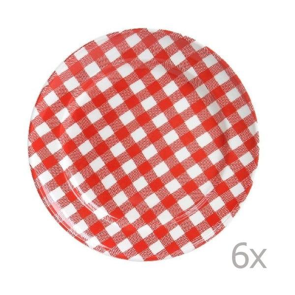 Sada 6 talířů Livia 24 cm, červený