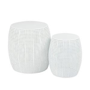 Sada 2 bílých stoliček J-Line Toini