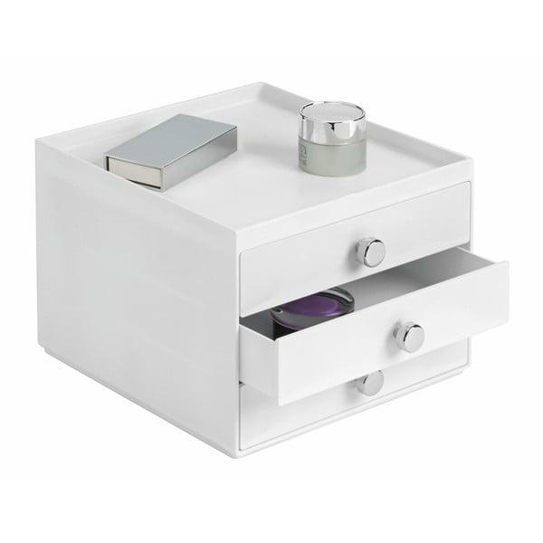Bílý úložný systém InterDesign 3 Drawers Slim