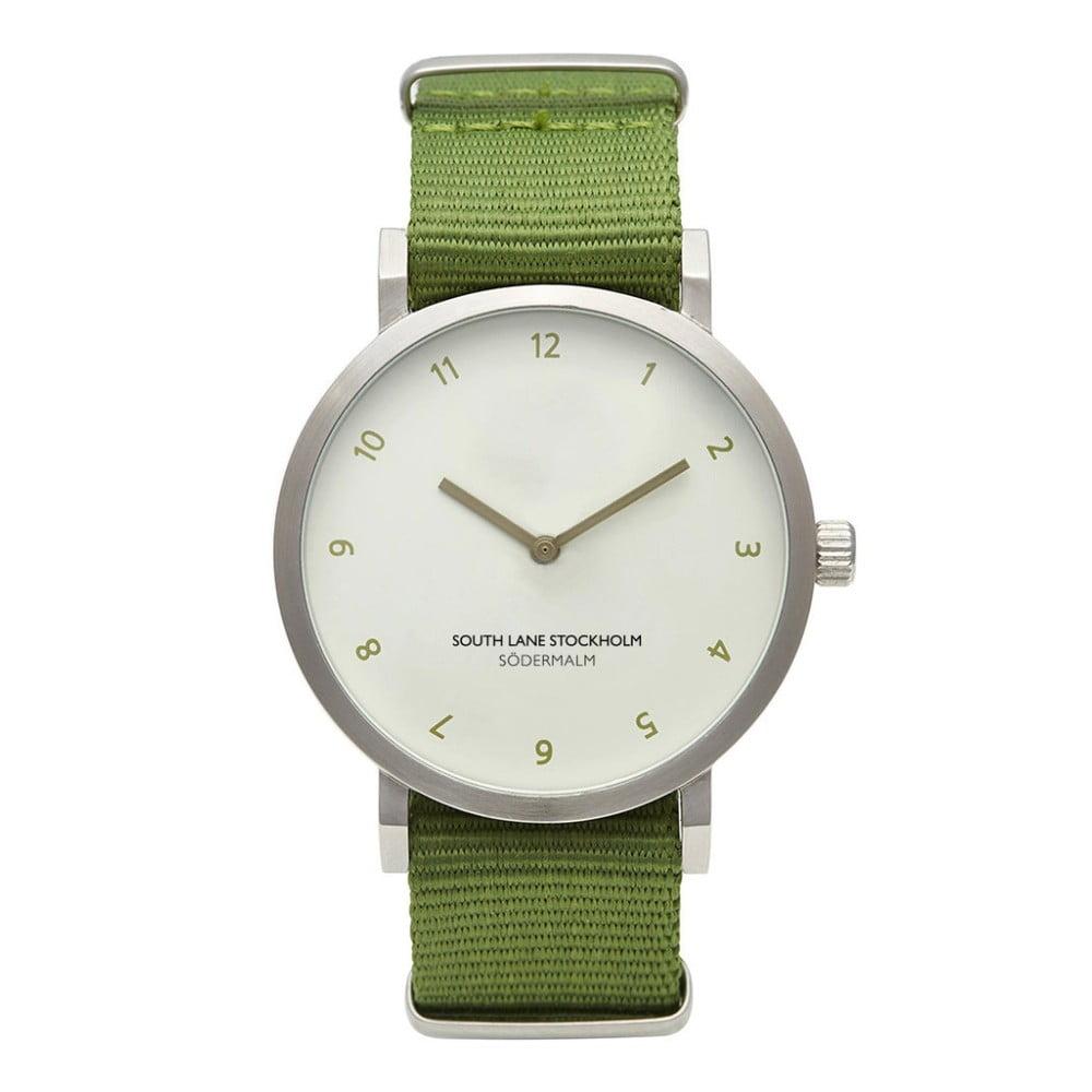 Unisex hodinky se zeleným řemínkem South Lane Stockholm Sodermalm Big Classy