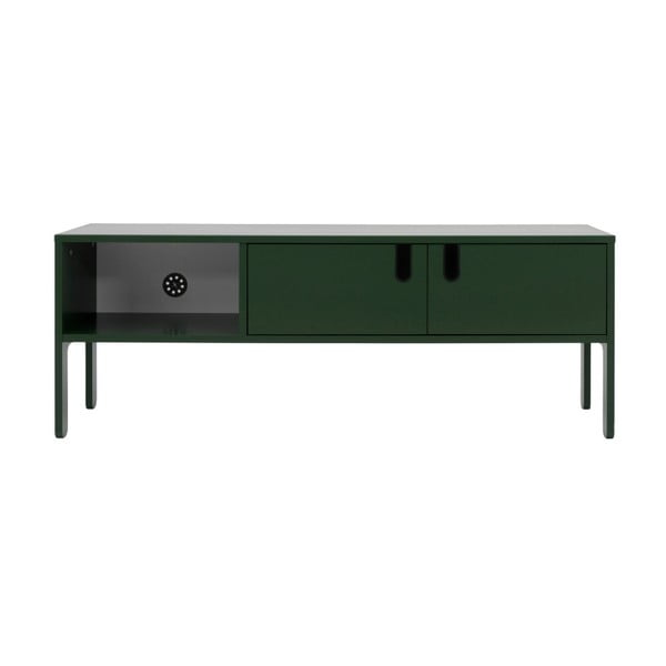 Tmavě zelený TV stolek Tenzo Uno, šířka 137cm