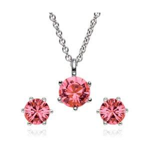 Sada náušnic a náhrdelníku Stone Pink