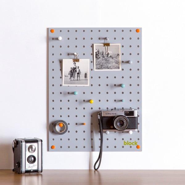 Multifunkční nástěnka Pegboard 30x40 cm, šedá