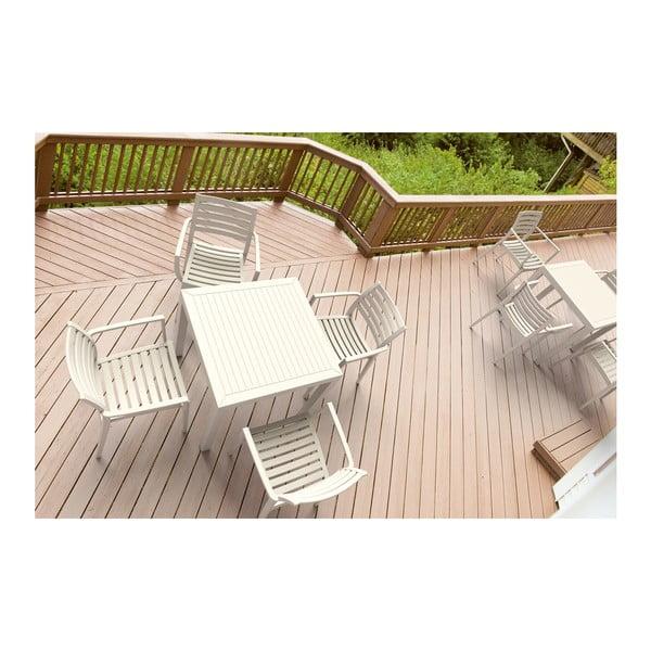 Bílý zahradní stůl Resol Arctic, 75 x 80 cm