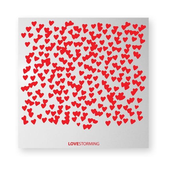 Magnetická tabule dESIGNoBJECT.it Lovestorming,50x50cm