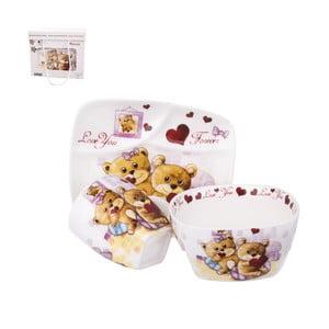 Sada 3 dětského jídelního nádobí z porcelánu Orion Medvídek