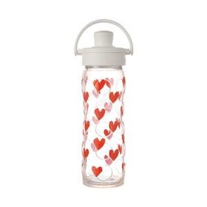 Sticlă de voiaj, din sticlă cu protecție din silicon, Lifefactory Luv Activ Premium, 475 ml