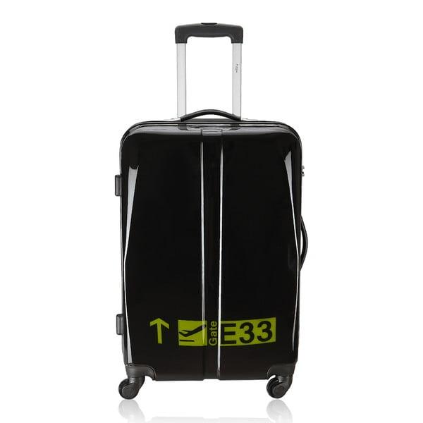 Sada 3 kufrů Integre Black/Yellow, 114 l/75 l/46 l