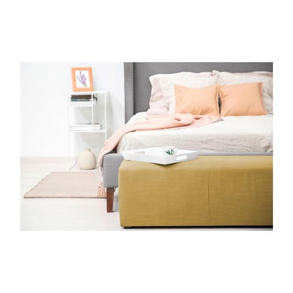 Kukuřičně žlutý puf Vivonita Scarlet Linen, 105x39cm