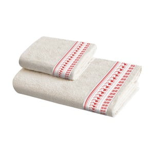 Sada 2 bavlněných ručníků Crido Consulting Scandi Reindeer