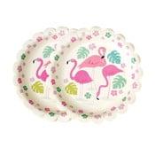 Sada 8 papírových talířků Rex London Flamingo Bay, ⌀ 17,5cm