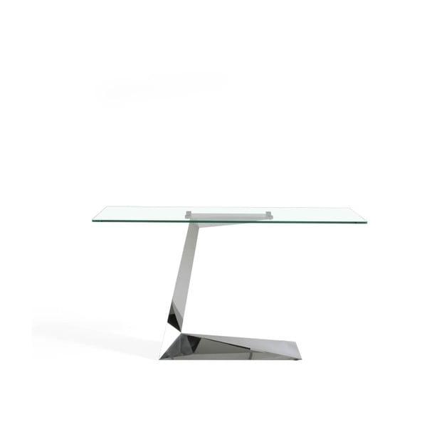 Odkládací stolek ze skla a kovu Ángel Cerdá Diamond