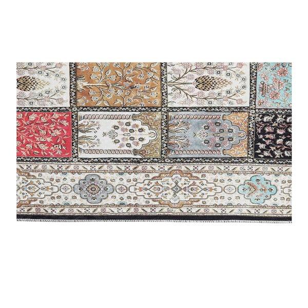 Šedý sametový koberec Deri, 150x80cm