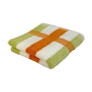 Ručník New York Strips Orange/White/Lime, 70x140 cm