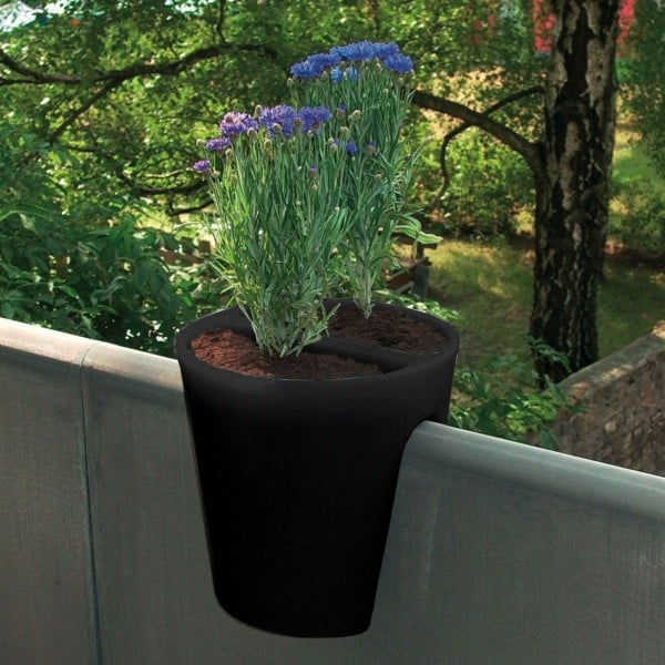 Květináč Steckling, černý
