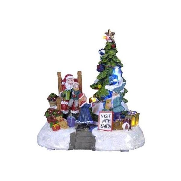 Svítící dekorace Santa with Gifts