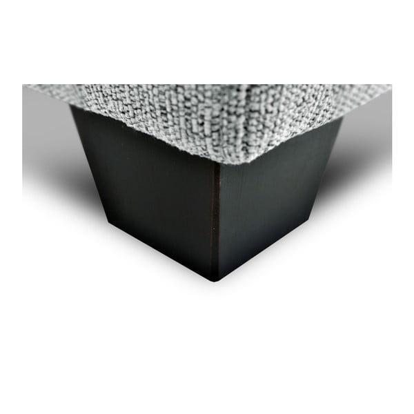 Stříbrná  trojmístná pohovka Vivonita Hugo