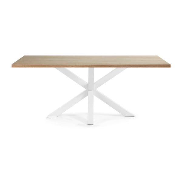 Bílý jídelní stůl s bílým podnožím La Forma Arya,200x100cm