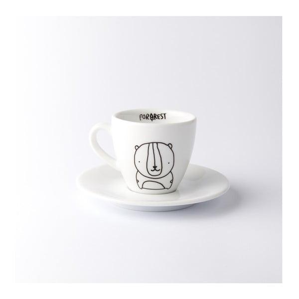 Hrnek na espresso s podšálkem Bear, 100 ml
