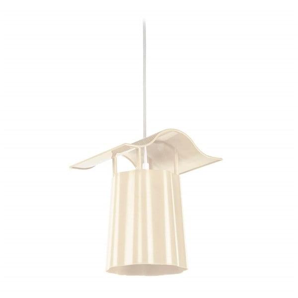Béžový závesný vonkajší lampáš Luciana