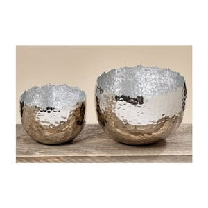 Set 2 boluri decorative Boltze Angie Silver