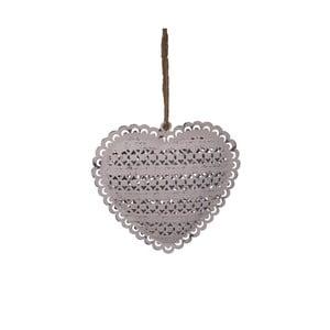 Decorațiune inimă, suspendată Antic Heart, 10,5 cm