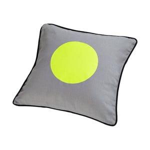 Polštář s kachním peřím Dot Grey/Lime