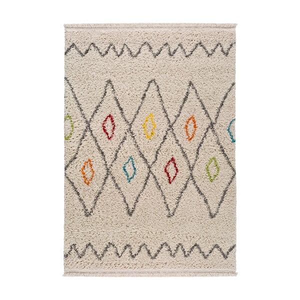 Handira fehér mintás szőnyeg, 120x60 cm - Universal