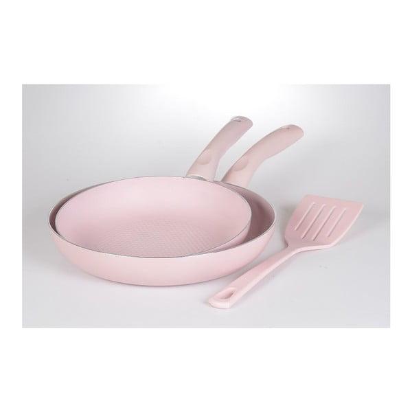 Set 2 pánví a špachtle Pastel Pink