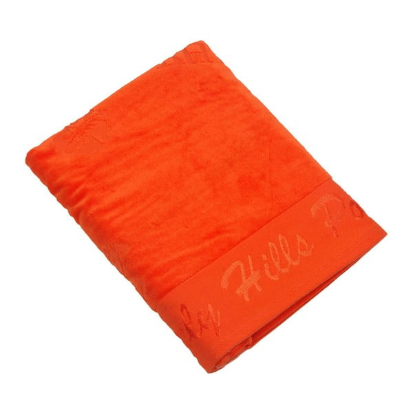 Oranžová bavlněná osuška BHCP Velvet, 80x150 cm