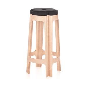 Barová židle Bloom 74 cm, se šedým sedátkem