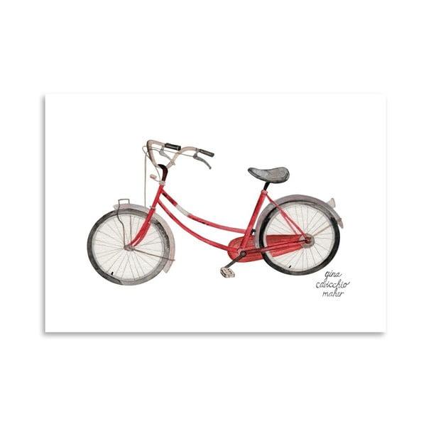Autorský plakát Bicycle, 30x42 cm