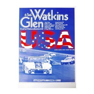 Plakát Porsche Watkins Glen 1978, 70x50 cm