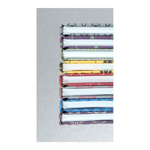 Ručně šitý zápisník bez linek Calico Runtu