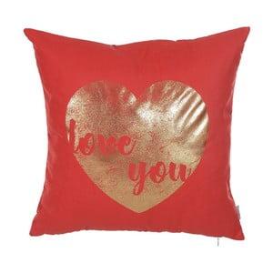 Față de pernă Apolena Shimmering Heart, 45 x 45 cm, roșu