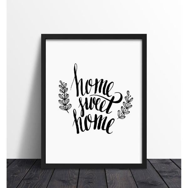 Zarámovaný plakát We Love Home Sweet Home, 40x50cm