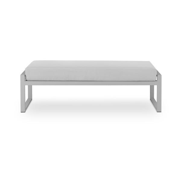 Sivá dvojmiestna vonkajšia lavica v sivom ráme Calme Jardin Nicea