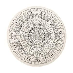 Covor reversibil Bougari Porto, Ø 200 cm, negru - crem