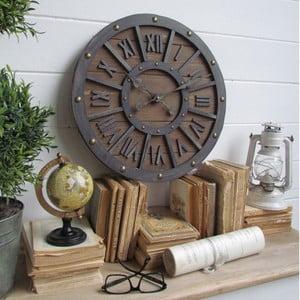 Nástěnné hodiny Industrial Wood, 46 cm