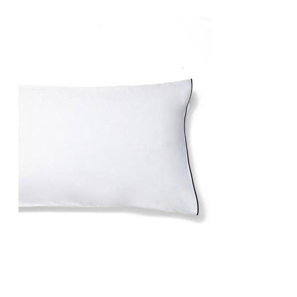 Bílý povlak na polštář z bavlněného saténu Casa Di Bassi Basic, 40x80cm