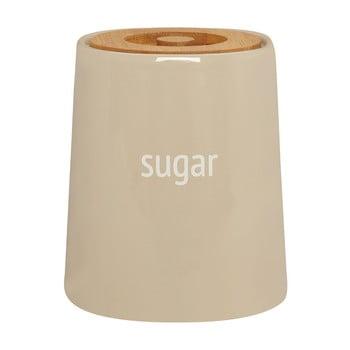 Recipient pentru zahăr cu capac din lemn de bambus Premier Housewares Fletcher, 800 ml, crem imagine