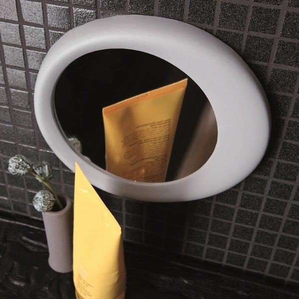 Samodržící přibližovací kosmetické zrcadlo Eclisse, světle šedé
