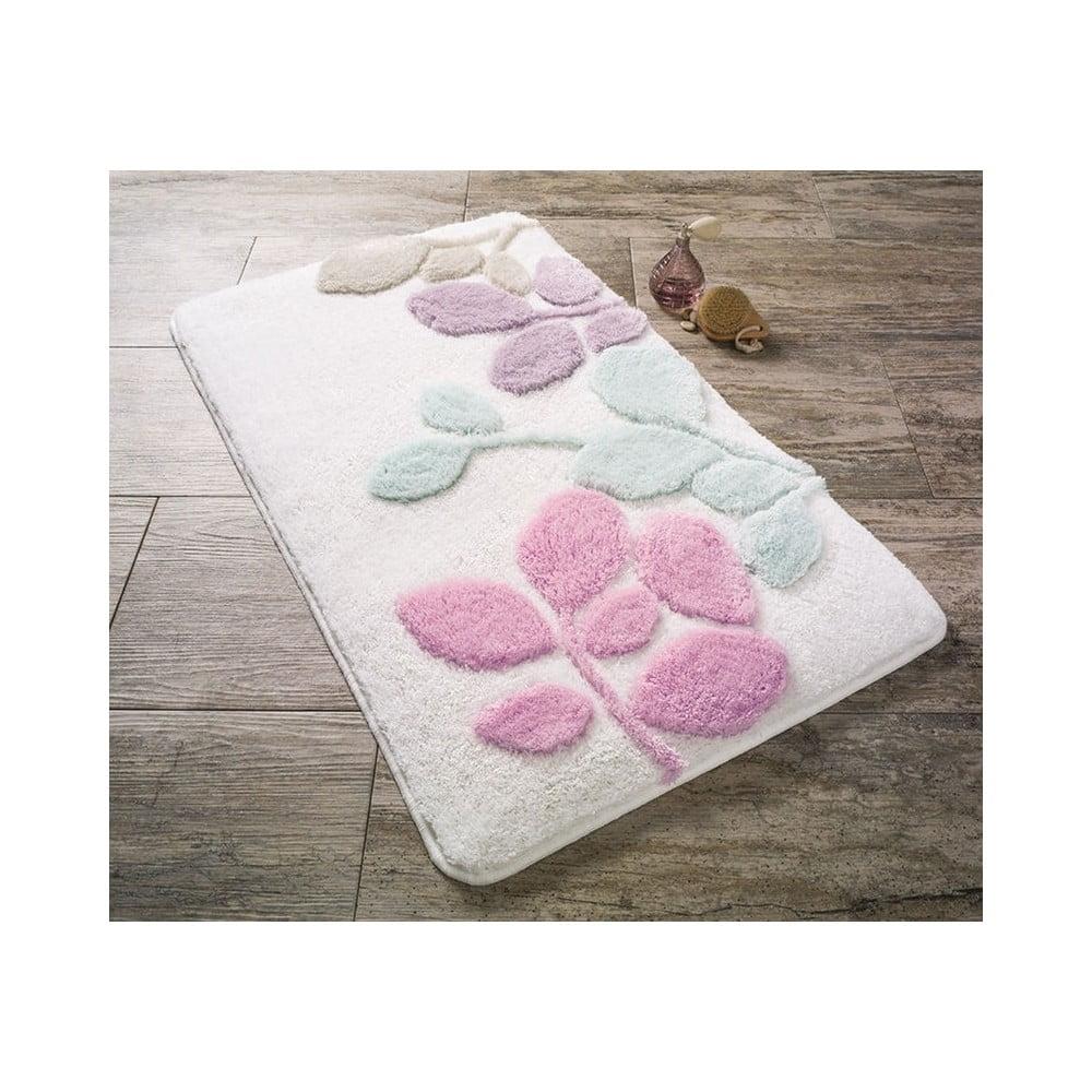 Růžová koupelnová předložka Confetti Bathmats Babilon, 70 x 120 cm