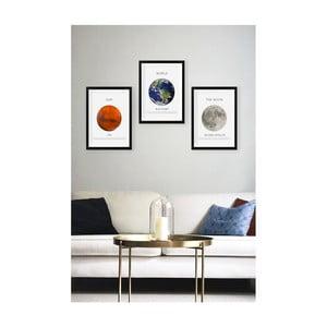 Sada 3 nástěnných obrazů Tablo Center Planets