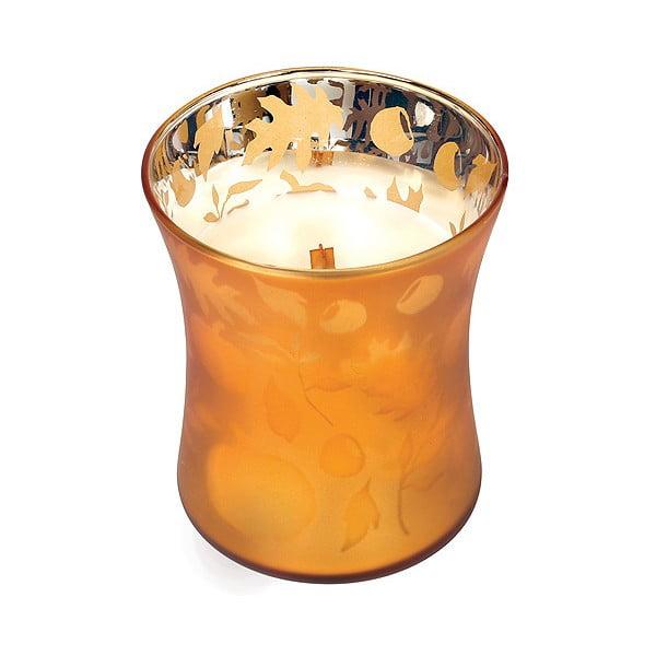 Svíčka s vůní dýně a hřejivého koření WoodWick Máslová dýně, dobahoření60hodin