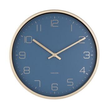 Ceas de perete Karlsson Elegance, albastru imagine