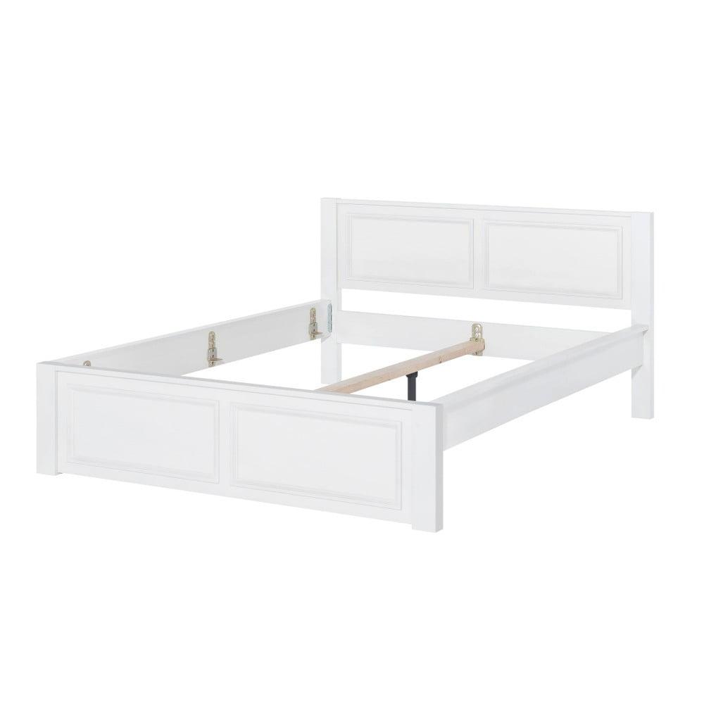 Bílá dvoulůžková postel Szynaka Meble Madison, 140 x 200 cm