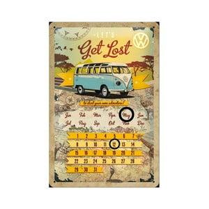 Plechový kalendář Let's get lost, 20x30 cm