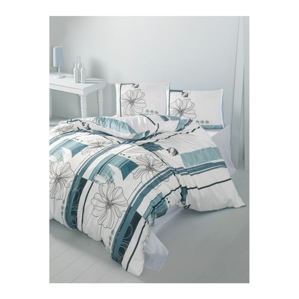Lenjerie de pat cu cearșaf Elif, 200 x 220 cm